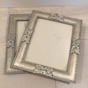 1 large ornate picture frames 8 x 10 Pewter
